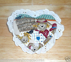 PINS~Heart Shape~Autumn-Fall Design~Fabric & Eyelet~Handcrafted~NEW