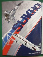 6/2013 PUB SUKHOI RUSSIAN AIRCRAFT SUKHOI SUPERJET 100 SUKHOI SU-35 ORIGINAL AD