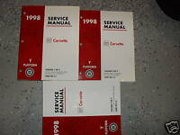 1998 Chevrolet Chevy CORVETTE Service Shop Repair Workshop Manual Set FACTORY GM
