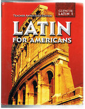 Latin for Americans by B. L. Ullman(2003,HC,Teacher Edition's Guide)ANSWERS!~NEW