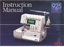 ELNA 925 DCX 905 & 904 INSTRUCTIONAL DVD & MANUALS on CD in PDF format