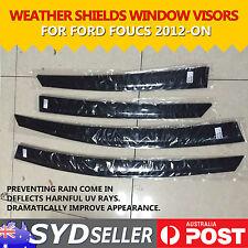 Car Premium Weather Shields Window Visors Rain Deflect Guard For Focus 2012-2019