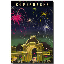 Fridge magnet Vintage Travel Poster: Copenhagen Denmark