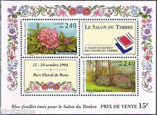 Frankrijk 1993 blok 13 Salon du timbre - bloemen - flowers
