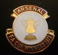 Arsenal Fa Cup Winners 1971 Football Brooch Pin Badge