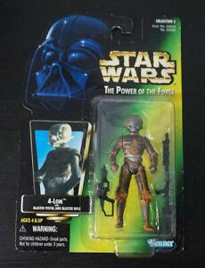 """4-LOM / Star Wars / POTF2 / 3.75"""" Action Figure / Japan / Kenner / Vitnage 1997"""