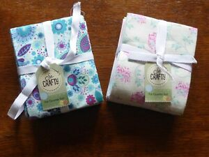 NEW - So Crafty - Floral Fabric- 100% Cotton Fat Quarters - 6 pack