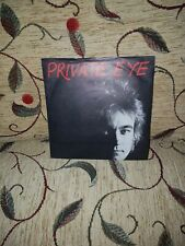 "gary knight private eye uk 7"" single pic sleeve press sticker punk works wk10 ex"