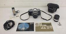 Vintage Nikon Nikkormat FT 35mm SLR Camera w/Nikkor-S 1:1.4 f=50mm Lens More+