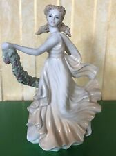 WEDGWOOD LADY CLASSICAL COLLECTION  JENNY OLIVER PORCELAIN YELLOW DRESS PERFECT
