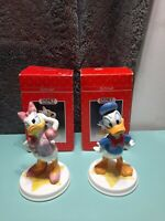 DISNEY SCHMID Donald Duck/Daisy Duck PORCELAIN Figurines Original Box