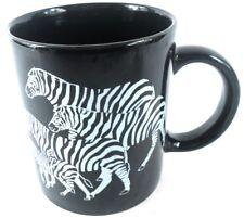 Endangered ZEBRA Coffee Cup Mug by Ganz Living Doll Designs Black