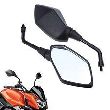 Black Rearview Mirrors For Kawasaki Z1000 Z750 Versys KLE 650 ZRX1100 ZRX1200