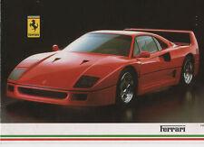 FERRARI MARANELLO Car Sales Brochure 1988 inc pricelist 328GTB/GTS Mondial 412