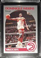 1990-91 DOMINIQUE WILKINS Atlanta Hawks NBA Hoops Basketball Card #36