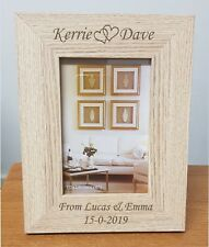 Personalised Engraved Wooden Photo Frame Anniversary gift, 25th Silver Wedding