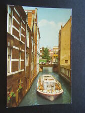 AMSTERDAM HOLLAND ROPE MAKERS DITCH WITH THE HOUSES BUILT IN THE WATER POSTCARD