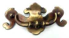 """Brass Chippendale Antique Drawer Pull Hardware Batwing Vintage Handle 3 """"centers"""