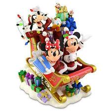 Santa Mickey & Friends w/ Chip & Dale on a Sleigh Christmas Disney Decoration
