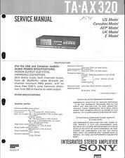 Sony Original Service Manual für TA-AX 320