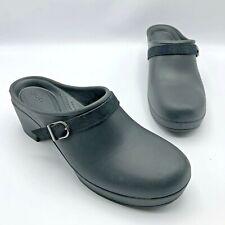 Crocs Sarah Women Black Slip On Clog Shoe Size 10 Pre Owned