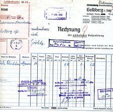 Alte Rechnung 1941 Schlesien Goldberg Breslau Diakonissen-Krankenhaus Görlitz