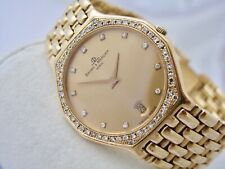 BAUME MERCIER mit 0,69ct. DIAMANTEN 750 / 18 KARAT GOLD Ref. 15159 QUARZ UHR
