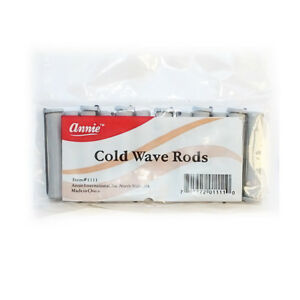 ANNIE SHORT COLD WAVE RODS W/ RUBBER BAND #1111, 12 COUNT GRAY 3/8""