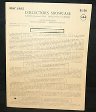Collector's Showcase #44 Auction Catalog (FN/VF) May 1982