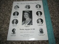 Miss Lancaster County  PA Beauty Pageant Program Evenly Ay Miss America