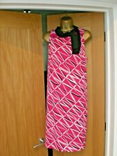BEAUTIFUL HIGH NECK TIE DRESS BY PRINCIPLES IN ALL OVER BOLD PRINT,LINED,SIZE 18