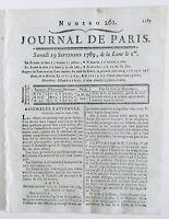 Salon des Beaux-arts 1789 Vernet Vien M. de Sillery Vincent Révolution Française