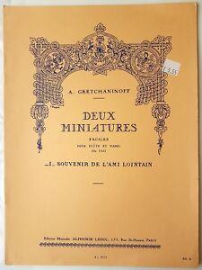 A. Gretchaninoff: Deux Miniatures - Souvenir De L'Ami Lointain (Flute/Piano)