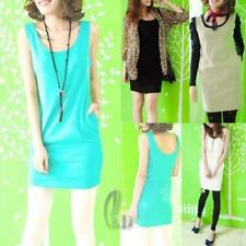 Petite Casual Solid Sleeveless Tops & Blouses for Women