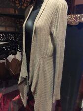 Vintage Style Free Form Camel Beige Cashmere Sweater Jacket Cape Cardigan
