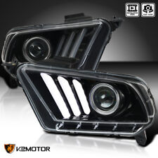 [Jet Black] 2010-2014 Ford Mustang Sequential LED Bar Projector Headlights