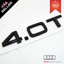 ABS Nameplate Audi 4.0T Gloss Black Emblem Trunk Lid Logo Badge Decoration