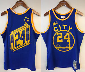 """Rick Barry Golden State Warriors Mitchell & Ness NBA Authentic Jersey """"The City"""""""