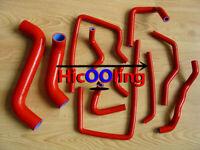 RED RADIATOR SILICONE HOSE FOR SUBARU IMPREZA WRX/STI GDA/GDB EJ207 2002-2007