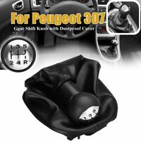5 Speed Manual Car Gear Shift Knob Shifter Gaiter Frame Cover For Peugeot 307