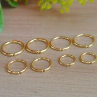 Real 24k Yellow Gold Earring 4.5-7mmW Super Mini Round Ear Hoop Each