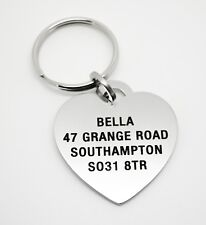 Heart Shaped Designer Pet Dog ID Tags - Free Engraving - Free delivery