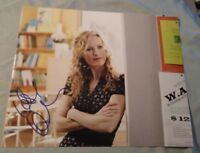 LESLIE MANN SIGNED 8X10 PHOTO JUDD AOATOW FUNNY W/PROOF+COA RARE WOW