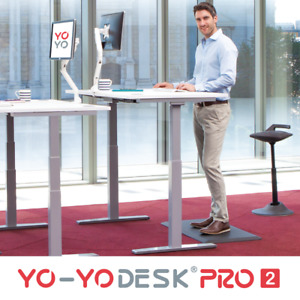 Yo-Yo DESK PRO 2 : Premium Quality Standard Height Standing Desk with Desk Top