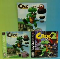 Croc Gobbos 1 + 2 + PC - Playstation 1 PS1 - Instruction MANUAL ONLY - No Game!