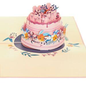 Birthday Cake Pop Up Card (Pack of 2) , Birthday 3D Card, Wedding Cake Card