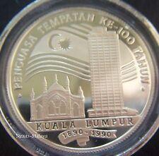 KUALA LUMPUR 100 YEARS 1890 - 1990  RM25 PROOF COIN