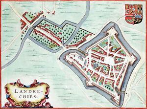 Reproduction plan ancien - Landrecies vers 1649