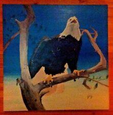American Bald Eagle Painting, Original, 4'x4' (feet), Artist Signed JFZ,