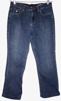 Gloria Vanderbilt Womens Sz 10 Jeans Dark Blue Wash Straight Leg Stretch Short
